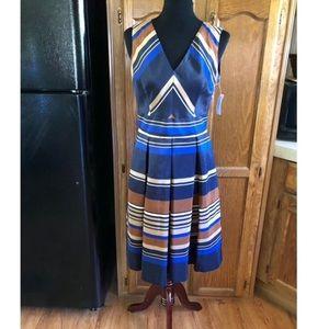 NWT Dressbarn Sateen Pleated Skirt Dress Size 8